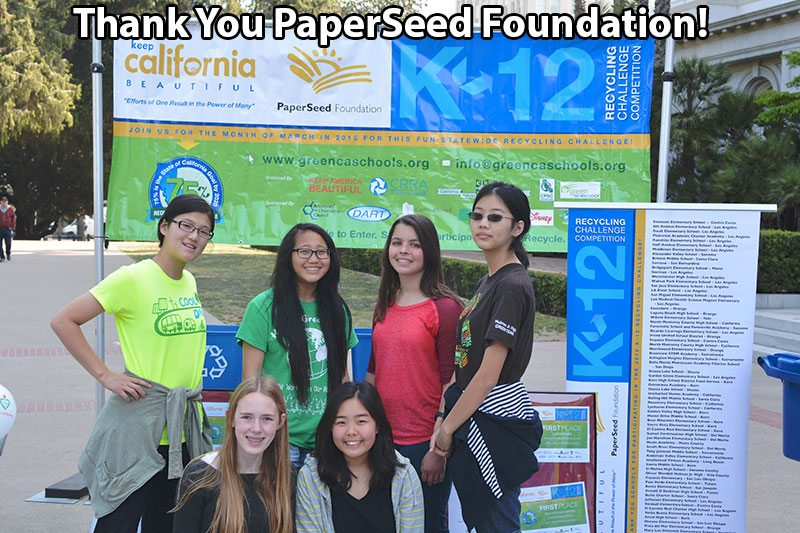 Thank You PaperSeed Foundation