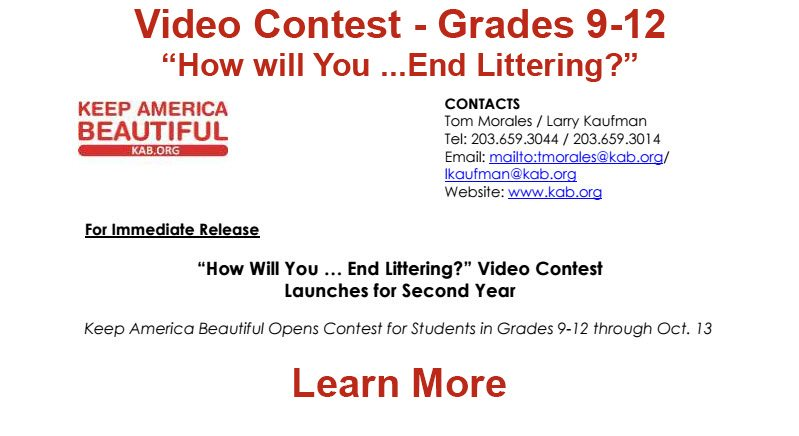 Keep America Beautiful Video Contest - Click to Learn More