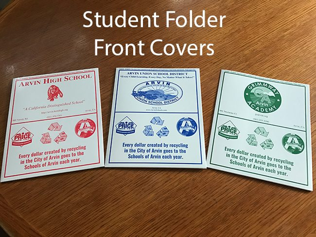 Arvin Student Folders - Front Cover